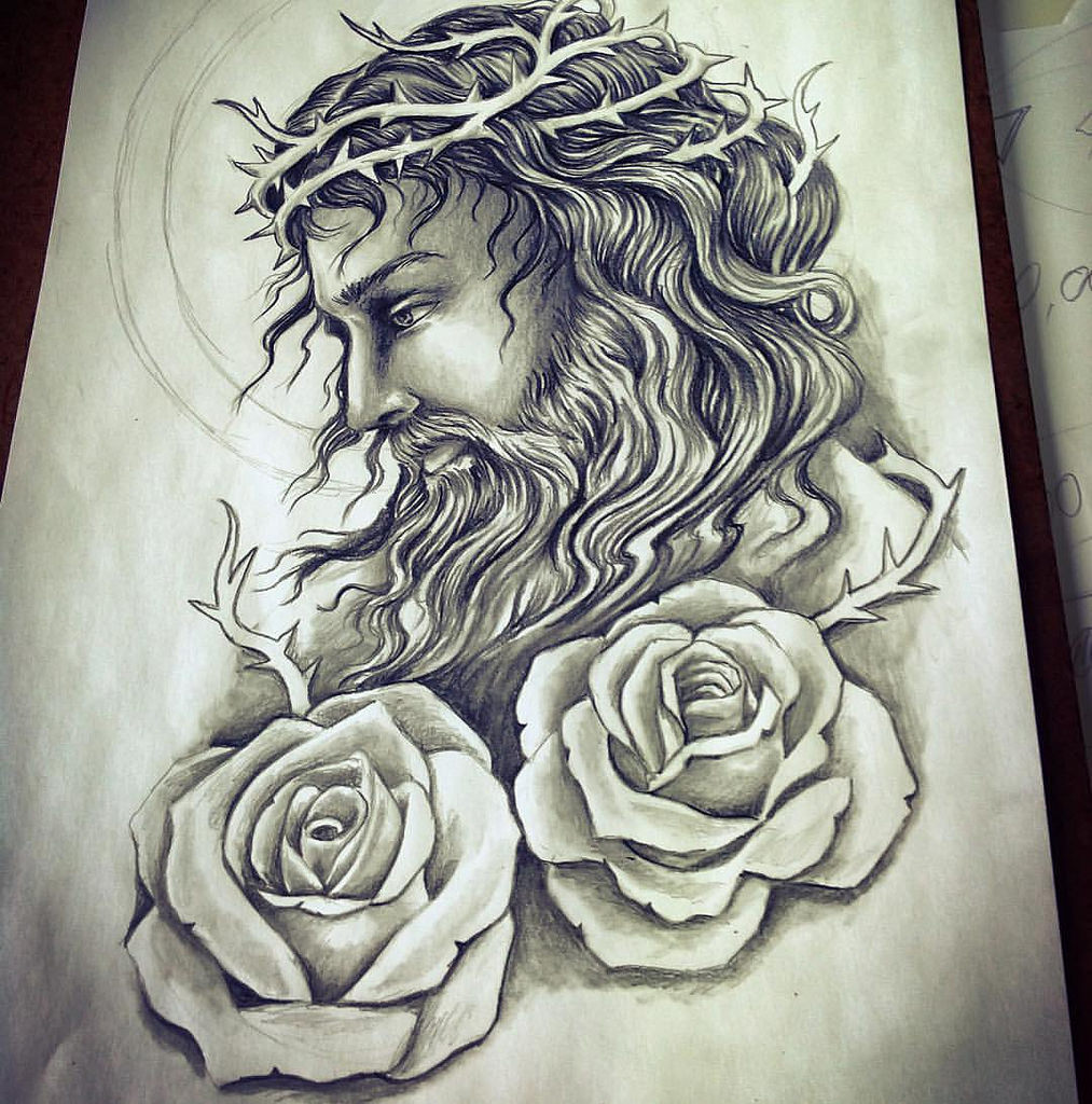 Jesus Tattoo Drawing at GetDrawings.com | Free for personal use ...