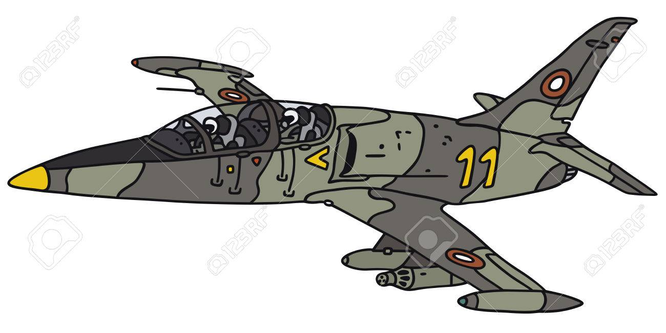 1300x651 Hand Drawing Of A Camouflage Jet Aircraft