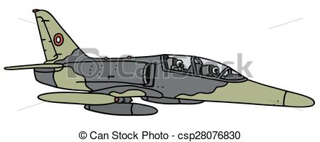450x200 Hand Drawing Of A Camouflage Military Jet Aircraft