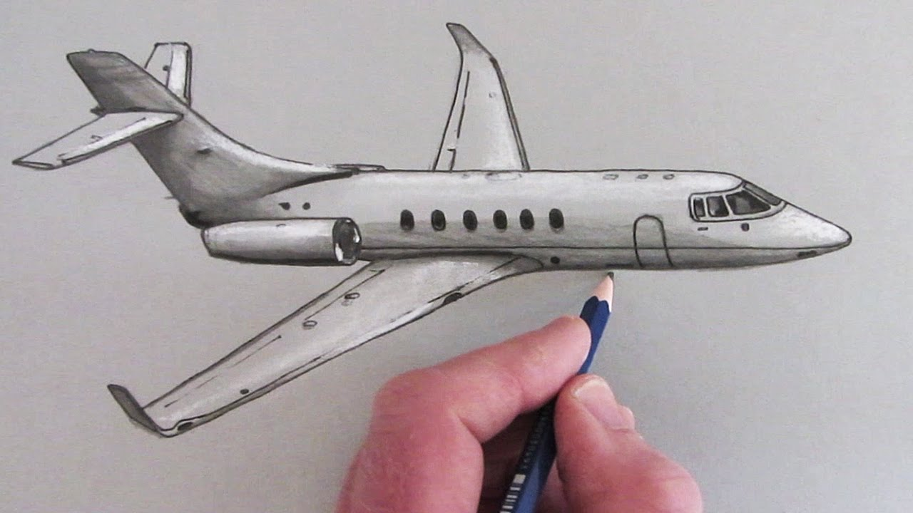 1280x720 How To Draw An Airplane