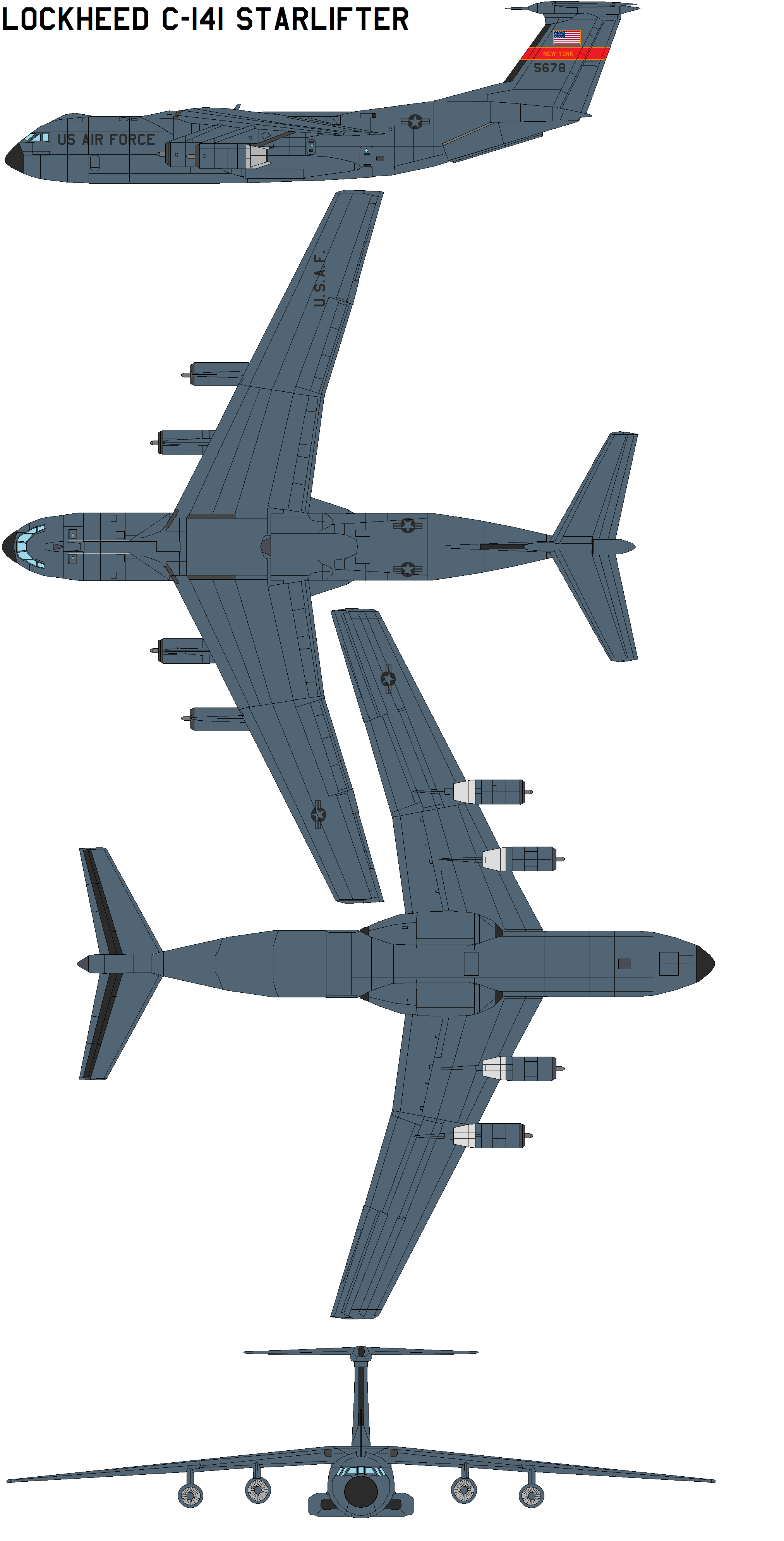 2025x3977 Lockheed C 141 Starlifter By Bagera3005 On C141