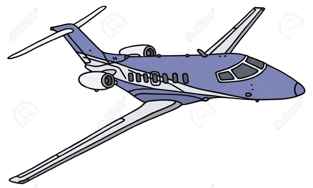 1300x781 Hand Drawing Of A Small Business Jet