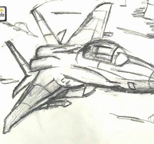 300x280 How To Draw A Jet Fighter Airplane Easy Step By Step Tutorial