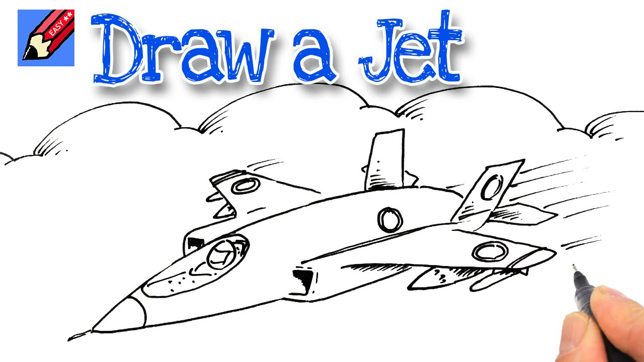 1280x720 How To Draw A Jet Fighter Real Easy