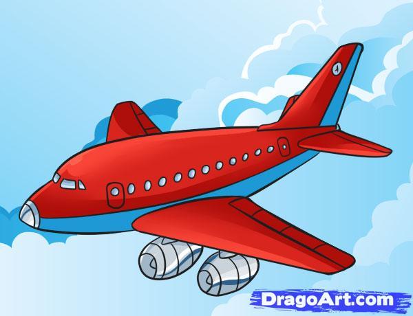600x460 Aeroplane Drawing For Kids