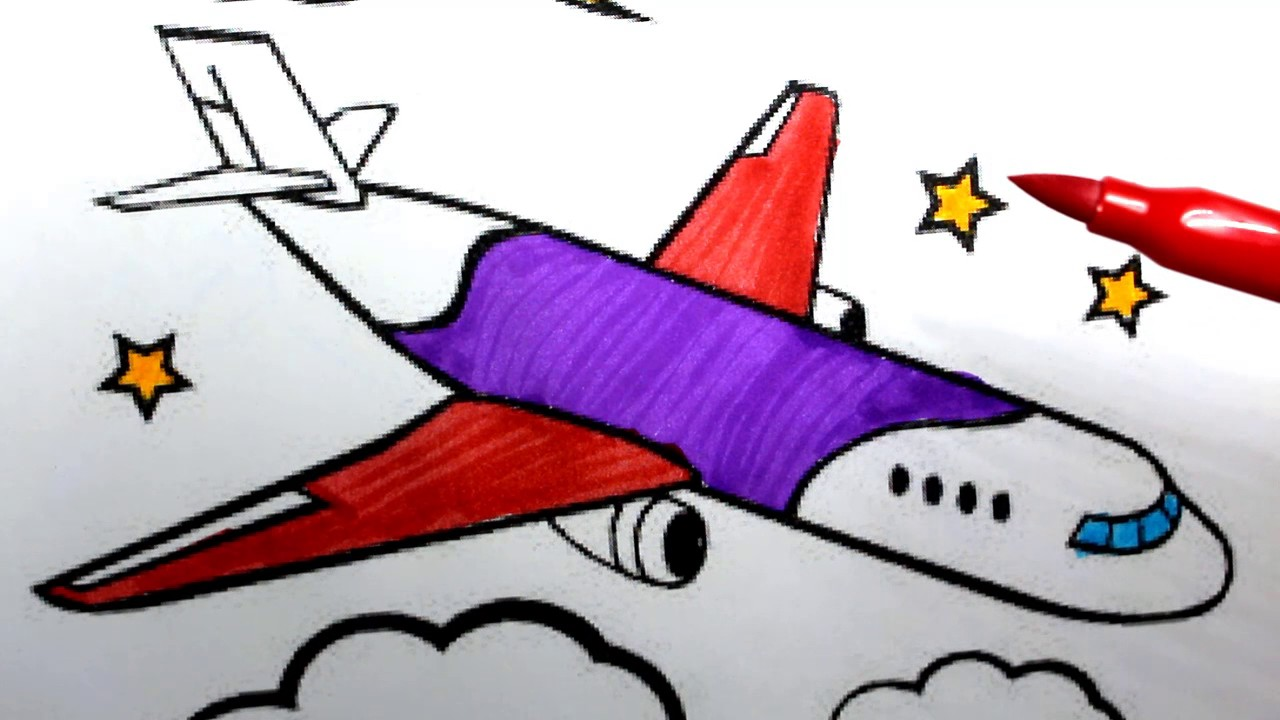 1280x720 Plane Drawing For Kids How To Draw An Airplane Easy Step By Step