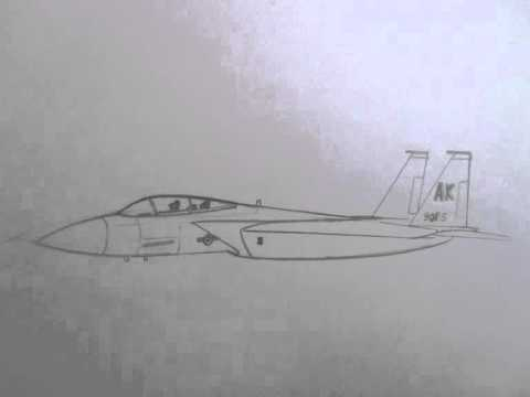 480x360 How To Draw Military Vehicles F 15 Strike Eagle Fighter Jet