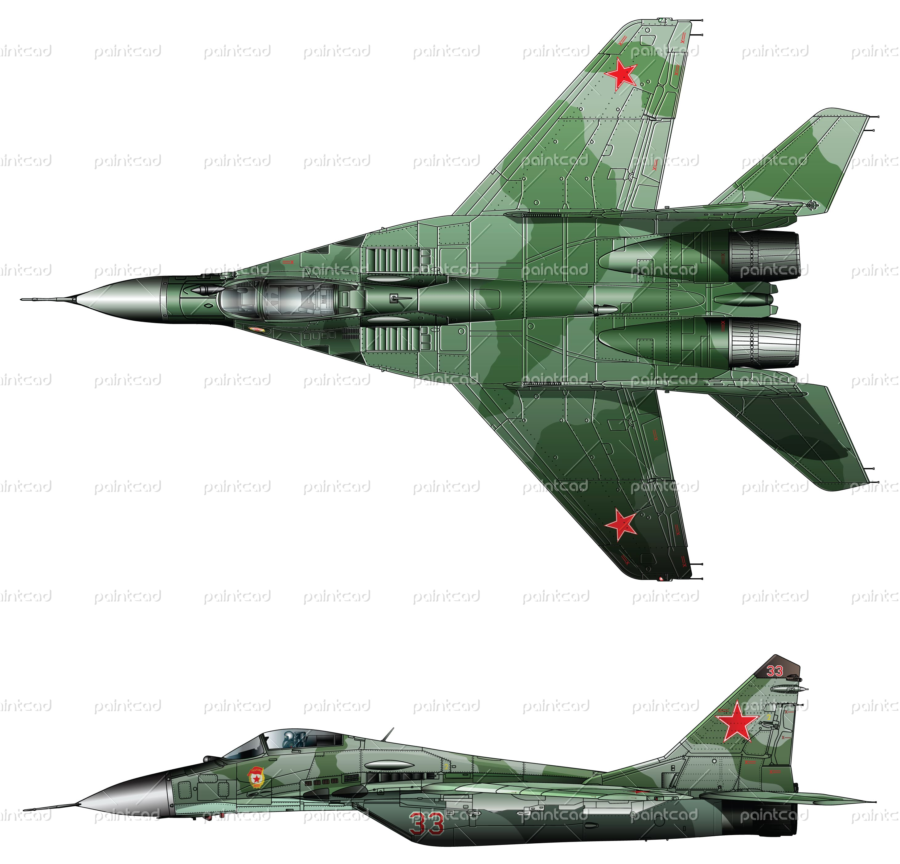 2920x2802 Jet Fighter Mig 29 Fulcrum Used By Air Forces Of Former Ussr