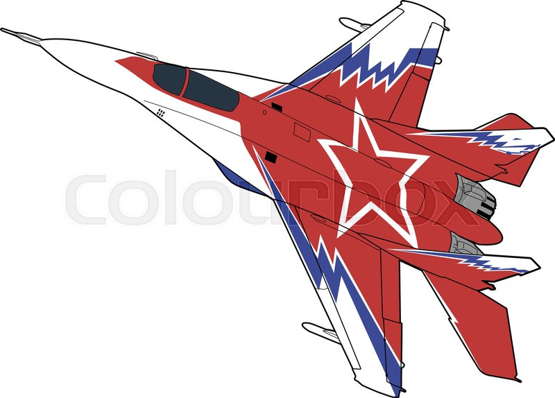 800x574 Landing Of Russian Jet Fighter Aircraft Mig 29. Technichal Draw