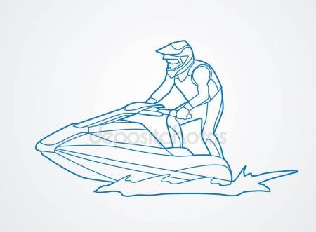 450x331 Cartoon Wave Runner Jet Ski Stock Vector Ronleishman