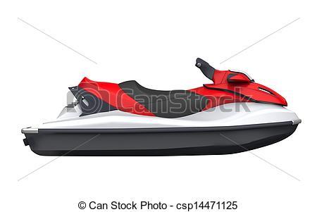 450x301 Jet Ski Isolated On White Background Clip Art