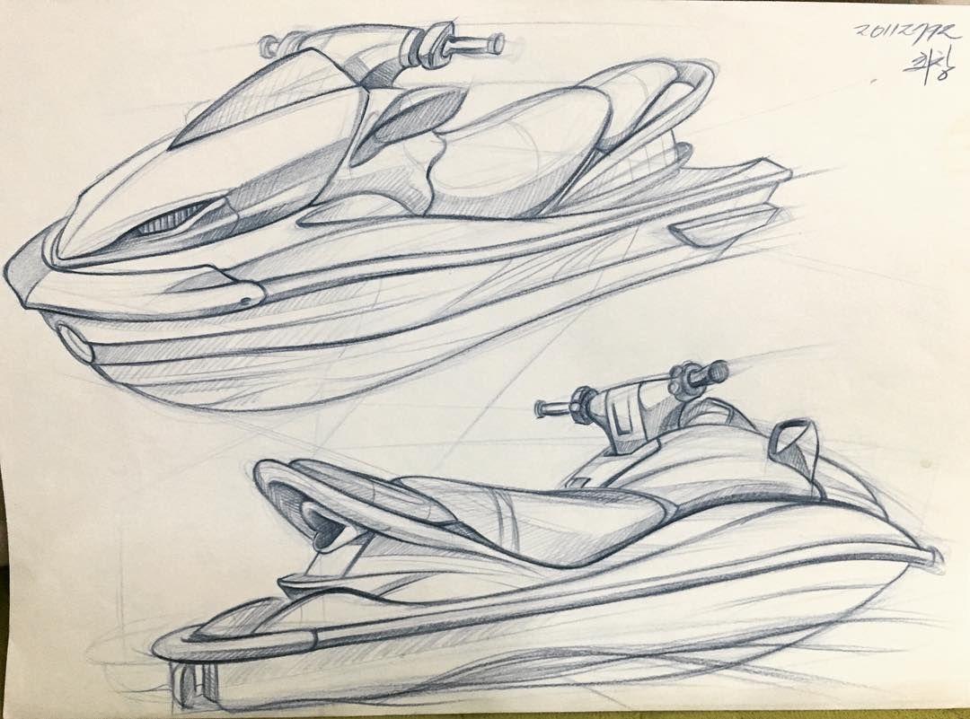 1080x801 Jetski Concept Design On Behance Jet Ski Sketch