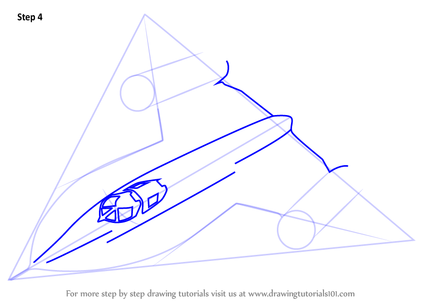 846x600 Learn How To Draw Lockheed Sr 71 Blackbird (Fighter Jets) Step By
