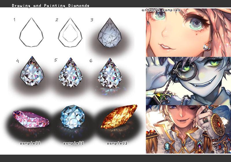 800x563 Drawing Jewelry Diamonds By Kawacy