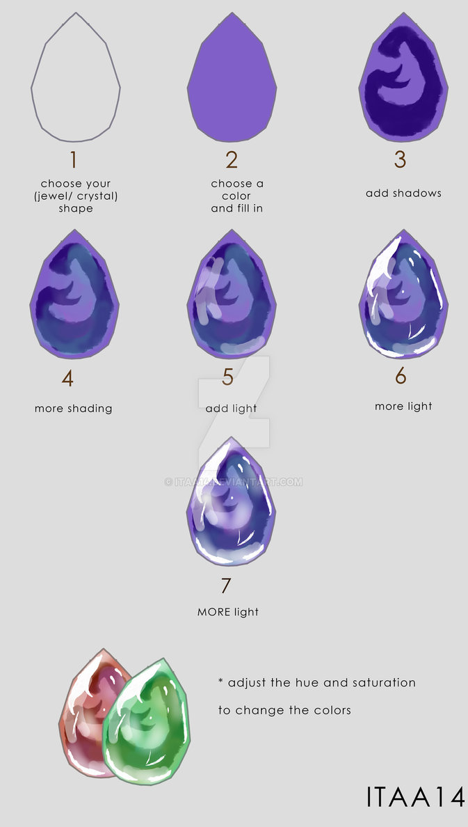 673x1188 Tuto How To Draw Jewelcrystal By Ithar14