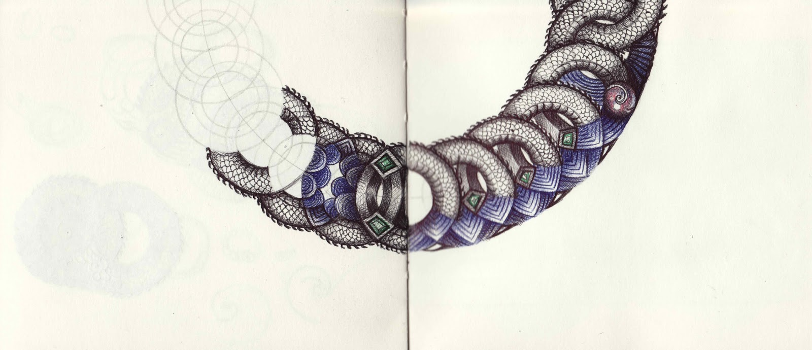 1600x690 Eugene Ceramic Artist Ballpoint Pen Drawings Of Jewellery