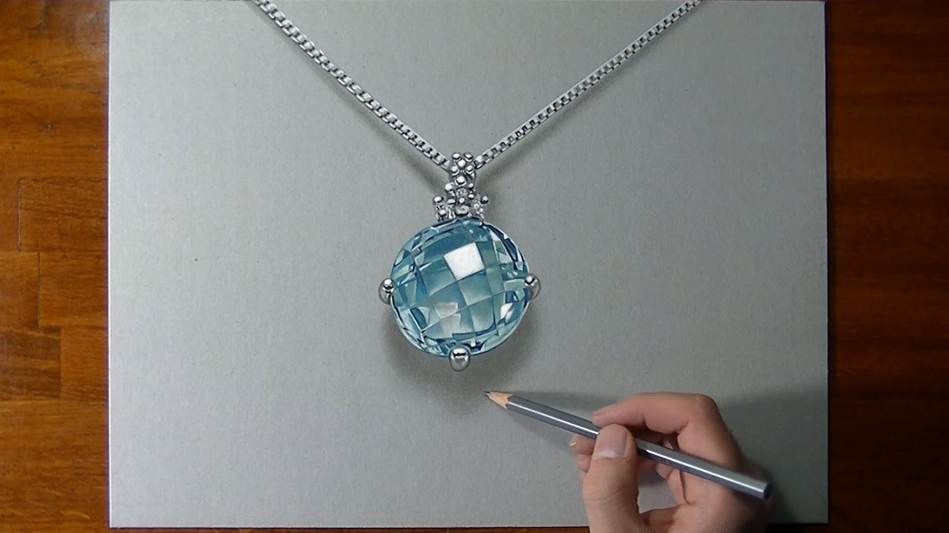1920x1080 How To Draw A 3d Aquamarine Necklace