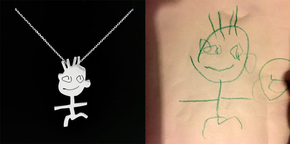 950x474 Children's Drawings Turned Into Finely Crafted Jewelry Colossal