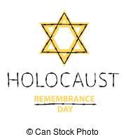 180x195 Holocaust Remembrance Day. Vector Card. Jewish Culture . Vectors