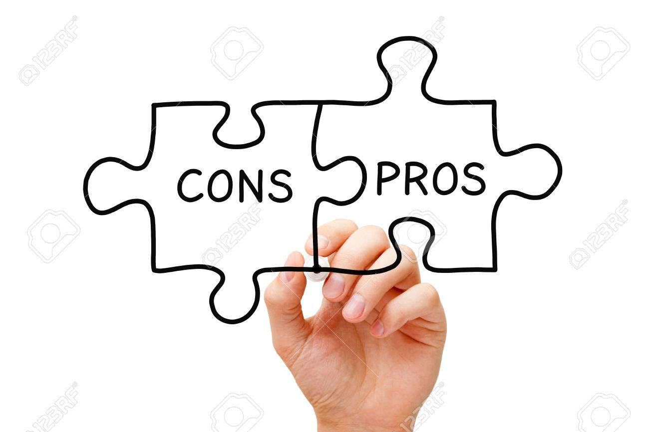 1300x866 Hand Drawing Pros Cons Jigsaw Puzzle Concept With Black Marker