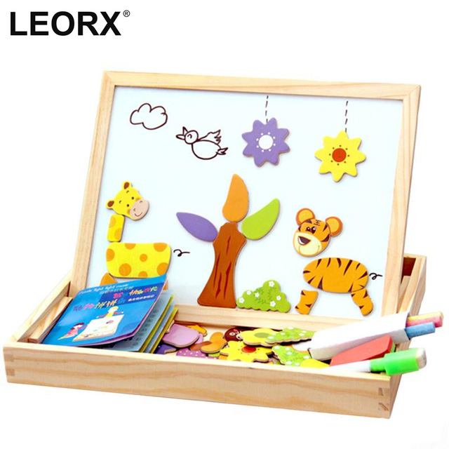 640x640 Wooden Magnetic Jigsaw Puzzles For Children Forest Park