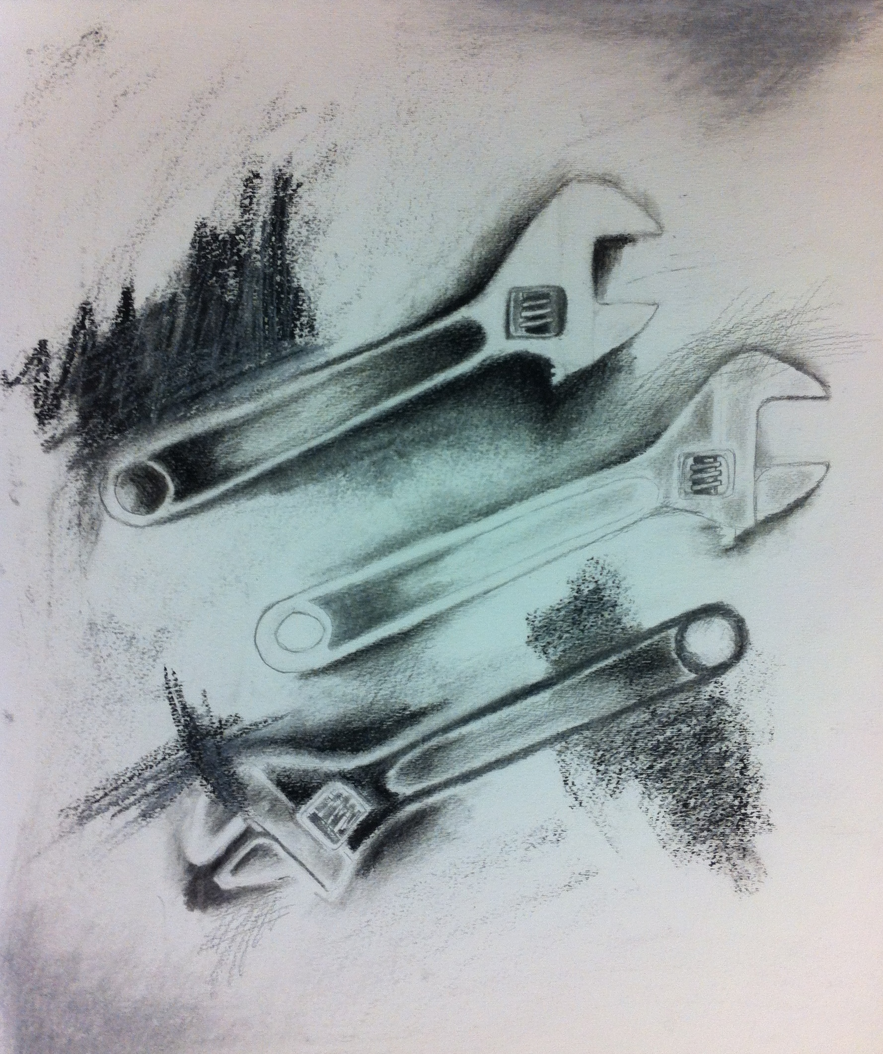 1778x2123 Jim Dine Style Drawing Of Wrenches Lindsay Kelly's Art Supplement