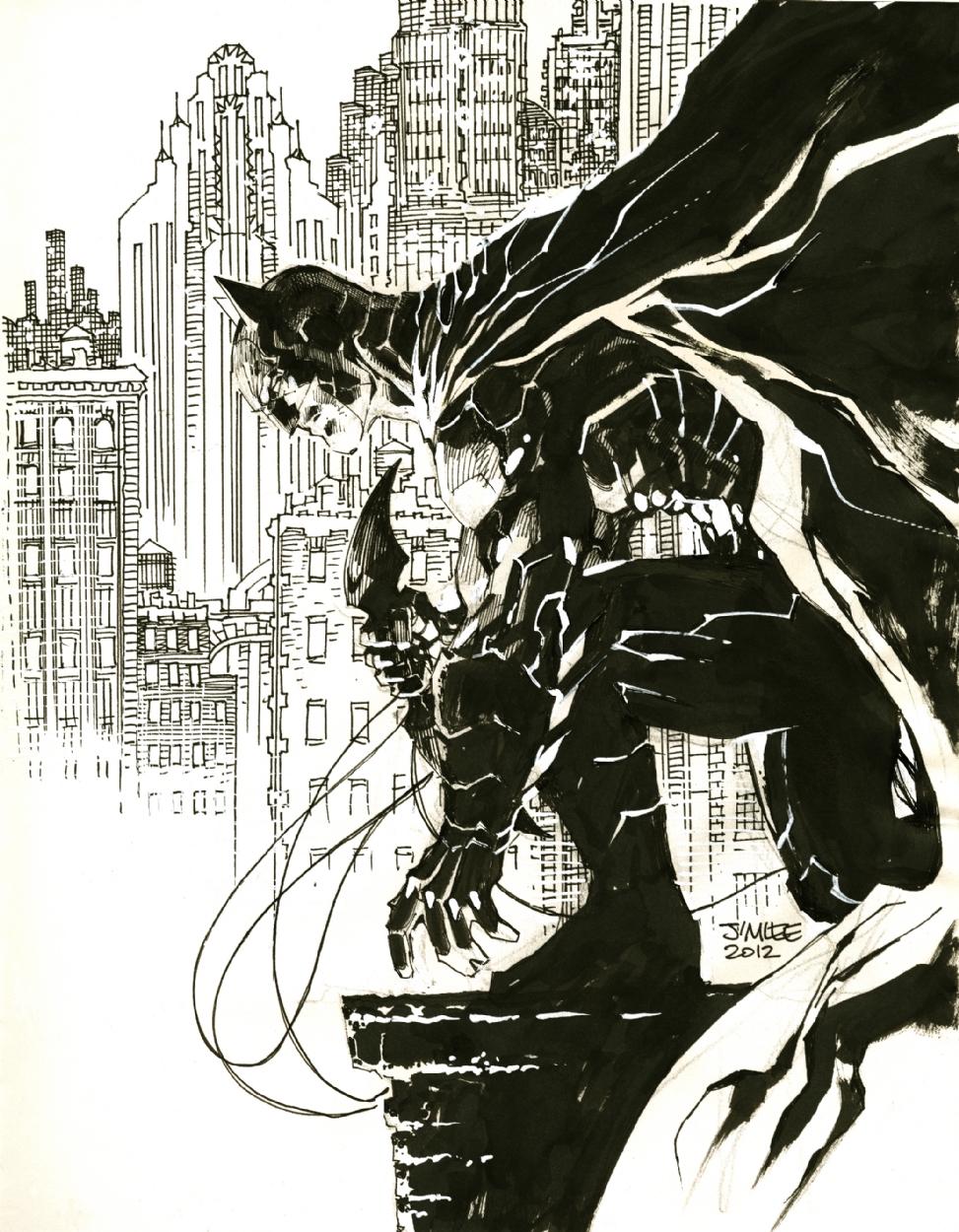973x1250 Jim Lee Batman Sketch, In J L's Jim Lee Comic Art Gallery Room