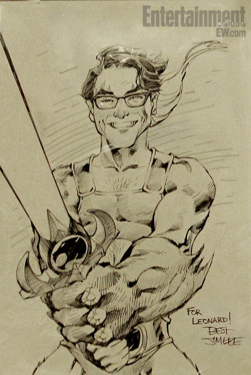510x761 Jim Lee Draws Leonard As Lion O In The Big Bang Theory
