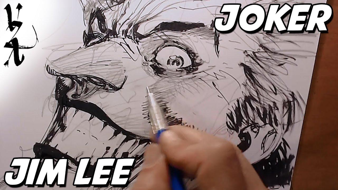 1280x720 Jim Lee Drawing Joker During Twitch Stream