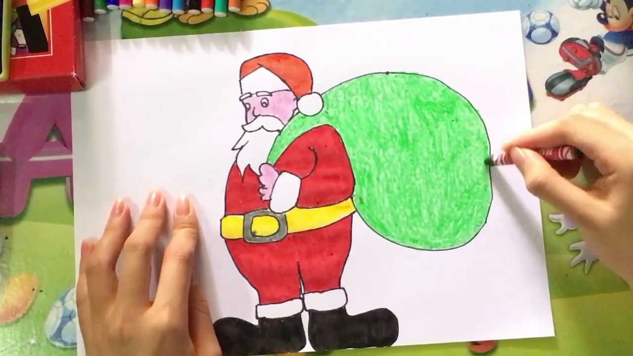 1280x720 How To Draw Santa Claus Easy Step By Step For Kids