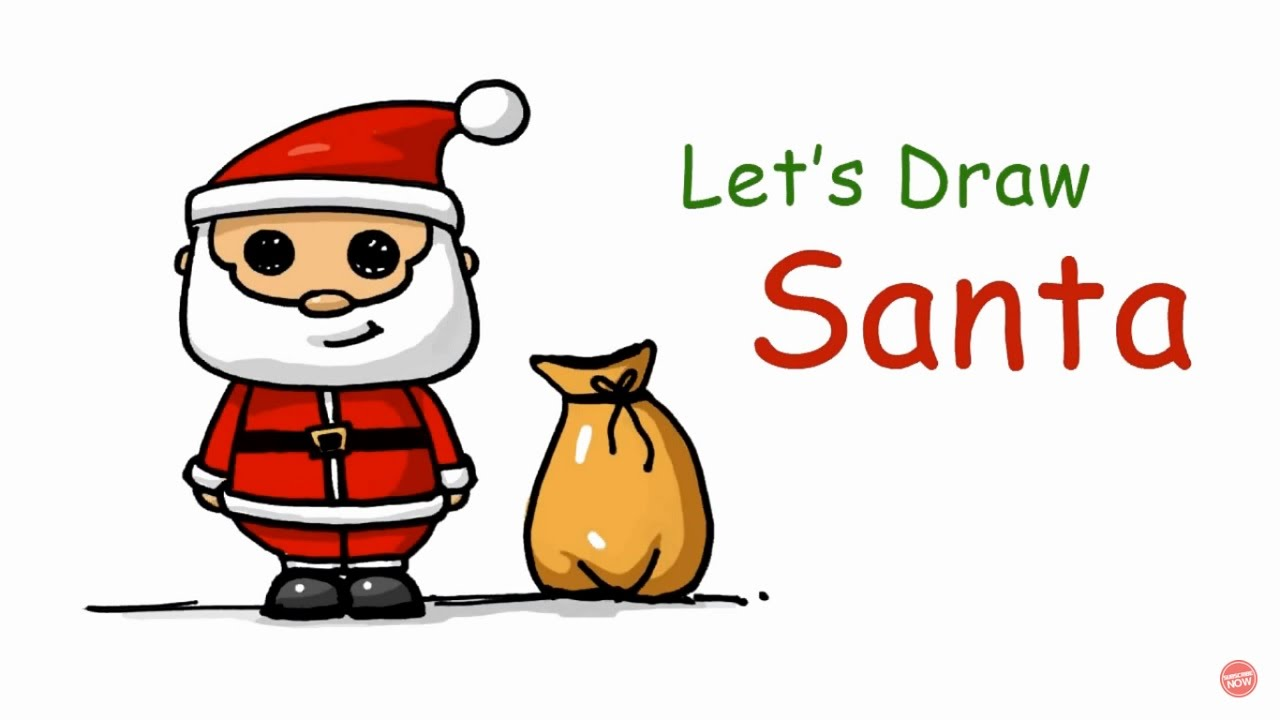 1280x720 Speed Drawing How To Draw A Santa Claus (Background Song