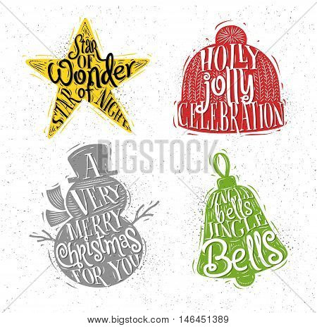 450x464 Christmas Vintage Silhouettes Star Vector Amp Photo Bigstock