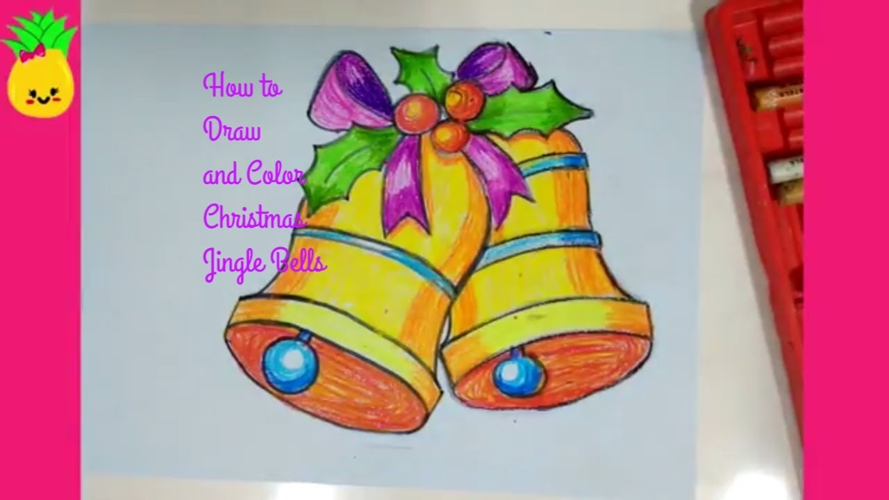 1280x720 How To Draw Jingle Bells For Christmas Easy Drawing Tutorial