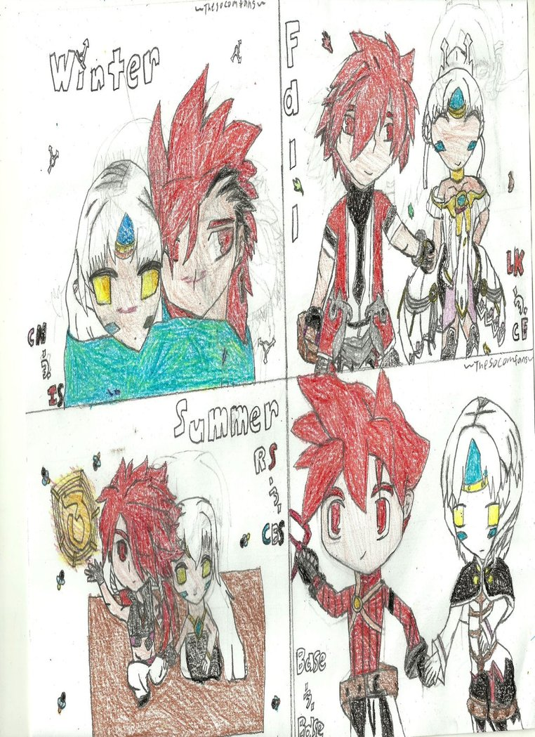762x1049 Elsword Drawing Elsword And Eve 3 Seasons 3 Job Ch By Kirolafe