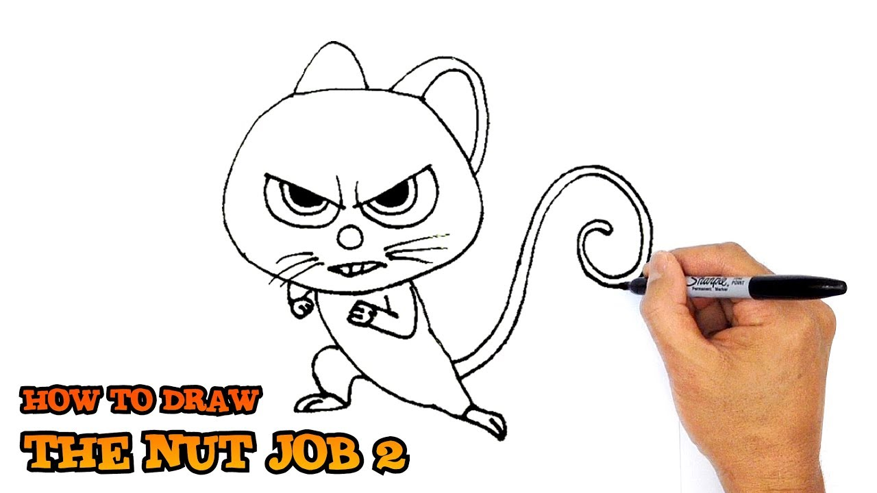 1280x720 How To Draw Mr Feng Cute From The Nut Job 2 Movie 2017