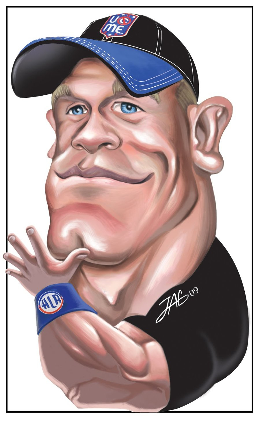 900x1457 John Cena Cartoon Drawing How To Draw John Cena Wwe