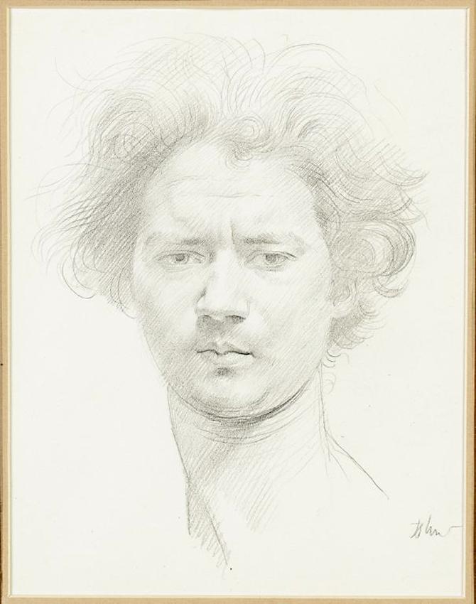 670x850 Augustus John Drawing Of Jacob Epstein Sells