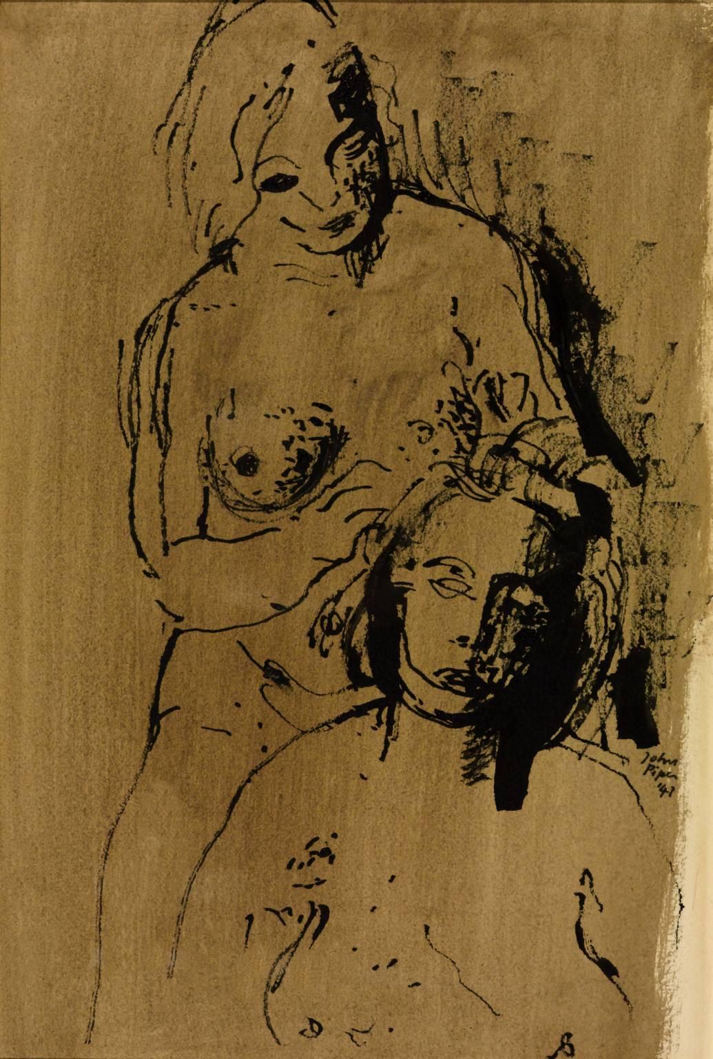 1035x1536 Figure Drawing', John Piper, 1941 Tate