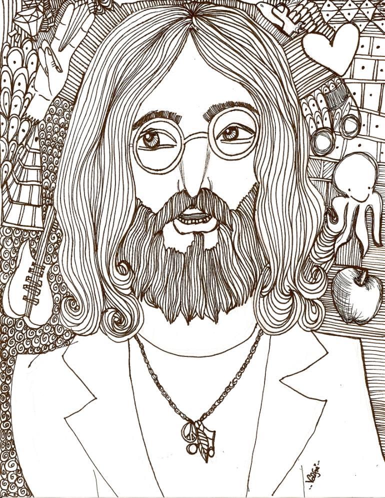 770x996 Saatchi Art John Lennon Drawing By Ilse Valfre