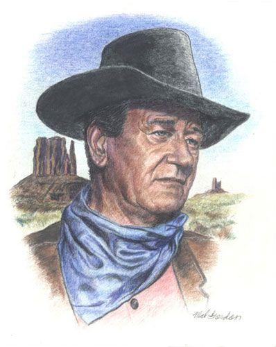 398x500 John Wayne Art John Wayne John Wayne And Duke
