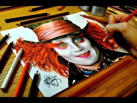 480x360 Drawing Johnny Depp As The Mad Hatter