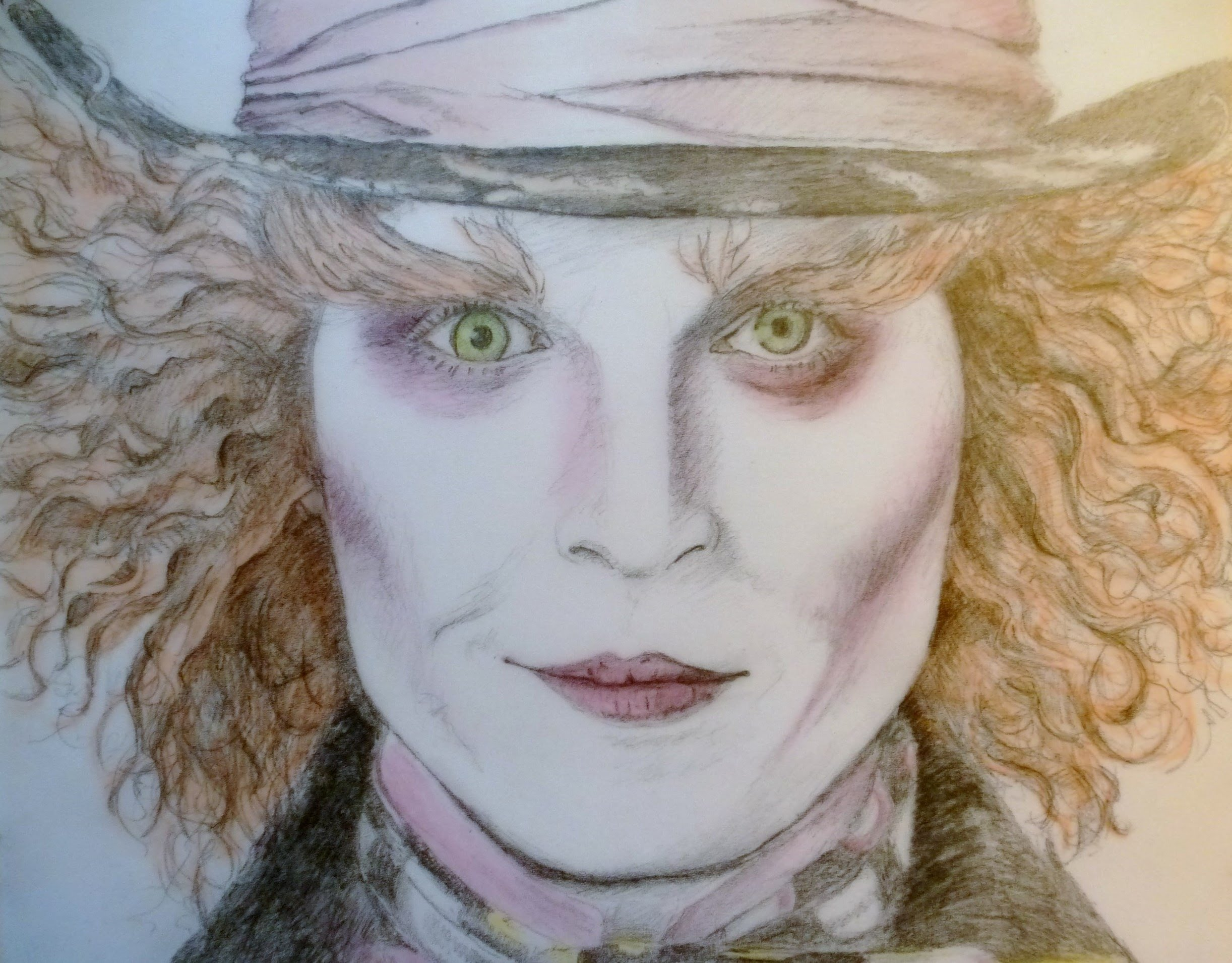 2444x1909 Drawing The Mad Hatter (Johnny Depp) Alice In Wonderland