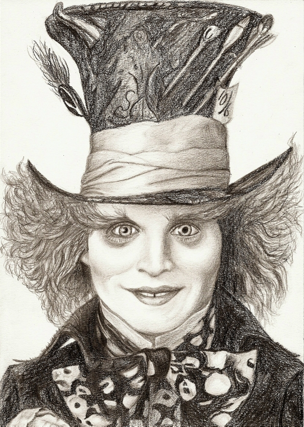 2444x1909 drawing the mad hatter johnny depp alice in wonderland 595x836 johnny depp