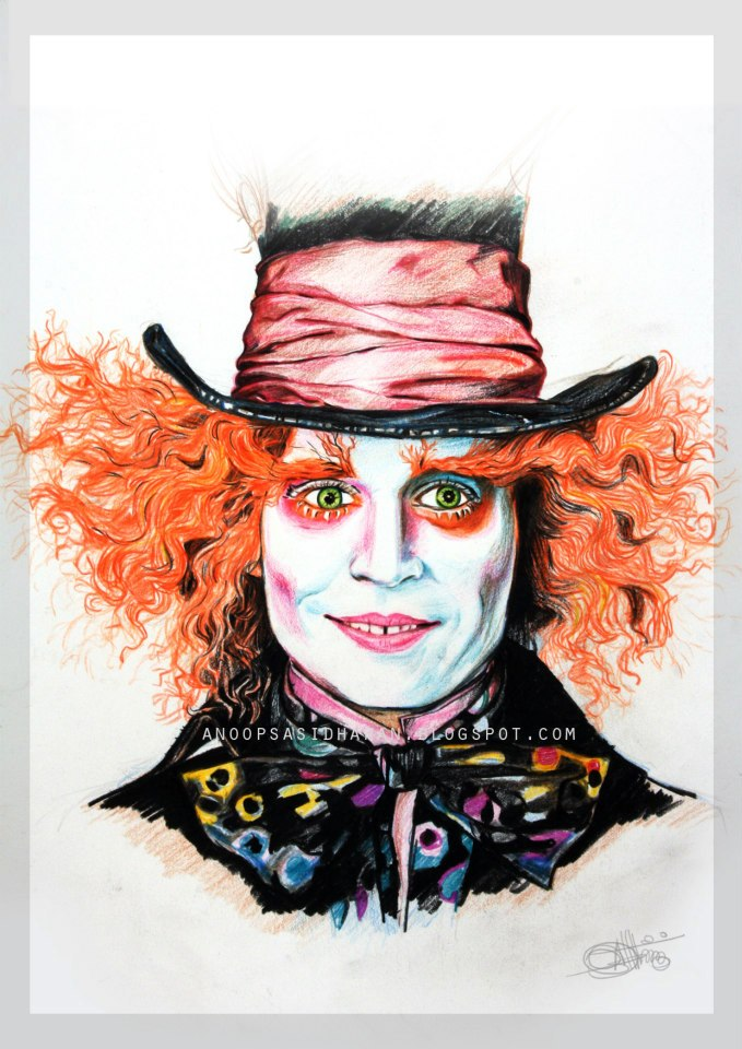 679x960 Johnny Depp As The Mad Hatter By Anoopsasidharanisher
