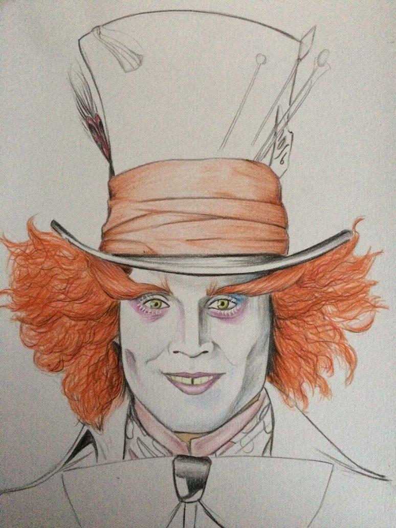 774x1032 Mad Hatter Johnny Depp Drawing Wip By Billyboyuk