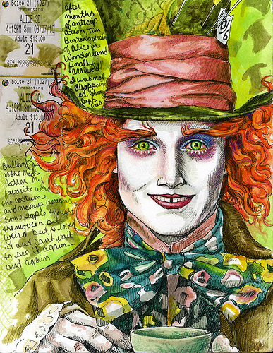 387x500 Brilliant Maddness Mad, Alice And Johnny Depp