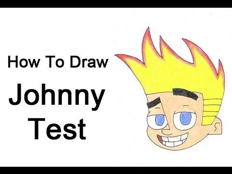 480x360 How To Draw Johnny Test