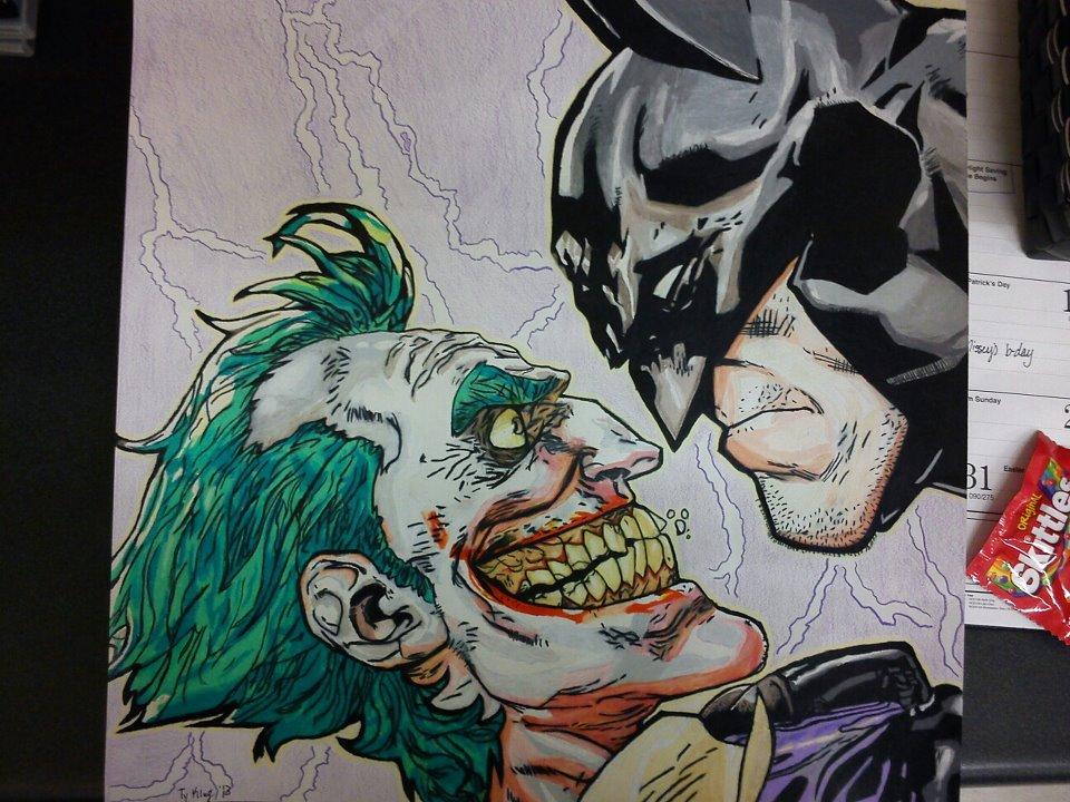 960x720 Batman Vs Joker Colored Pencil Drawing By Tyklug2013