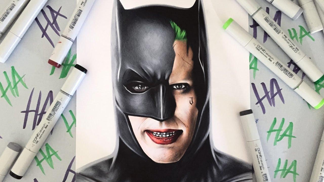 1280x720 Drawing The Joker In Batman's Suit