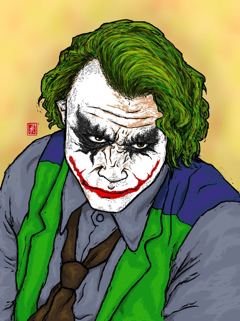 768x1024 How To Draw The Joker ( Batman )